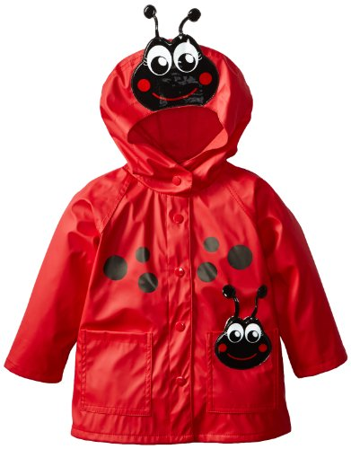 Western Chief Kids Soft Lined Character Rain Jackets, Lucy the Ladybug, ()