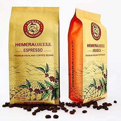 HEMERA Espresso Coffee Beans Whole Bean Coffee - Fresh Light Roast Coffee Beans - Vietnamese Specialty Coffee Traditional Drip Filter Maker For Travel Camping by AVC HEMERA.,LTD