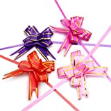 Skylofts 50Pcs Pull Flower Ribbon For Gift Wrap & Decoration Multicolor (Size : 15)