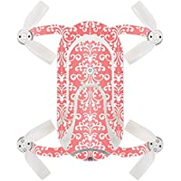 Skin For ZEROTECH Dobby Pocket Drone – Coral Damask   MightySkins Protective, Durable, and Unique Vinyl Decal wrap cover   Easy To Apply, Remove, and Change Styles   Made in the USA