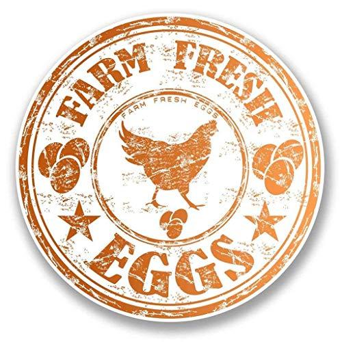 Farm Fresh Eggs Chicken Vinyl Sticker Decal Laptop Car Bumper Sticker Travel Luggage Car iPad Sign Fun 5