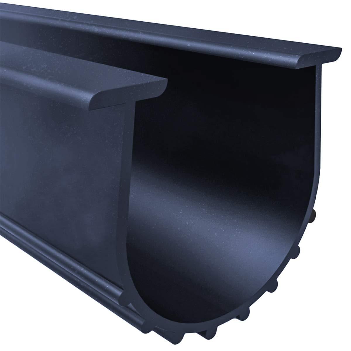 "Garage Door Bottom Weather Stripping Kit Rubber Seal Strip Replacement, Weatherproofing Universal Sealing Professional Grade T Rubber,5/16"" T Ends, 3 3/4"" Width X 20 Feet Lenth (Black)"