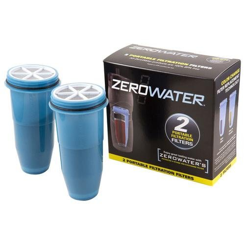 1 PACK Zero Water Filters for Travel Bottle 2 ea