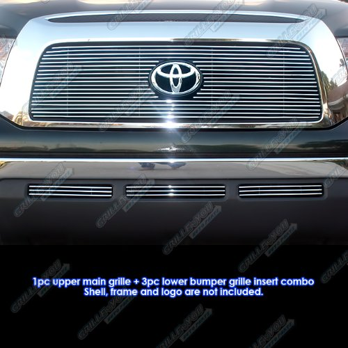 APS Fits 07-09 Toyota Tundra Billet Grille Combo Upper+Lower #T67841A