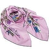 Silk scarf Silkworm silk scarves Shawl Scarf bandana-A One Size