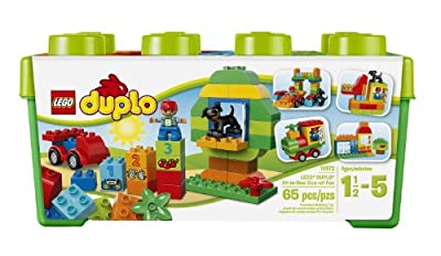 LEGO DUPLO Creative Play All-in-One-Box-of-Fun 10572, Preschool, Pre-Kindergarten Large Building Block Toys for Toddlers