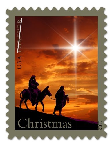 The Holy Family double-sided booklet of 20. Forever Christmas stamps 2012 (Holy Family Of Jesus Mary And Joseph Images)