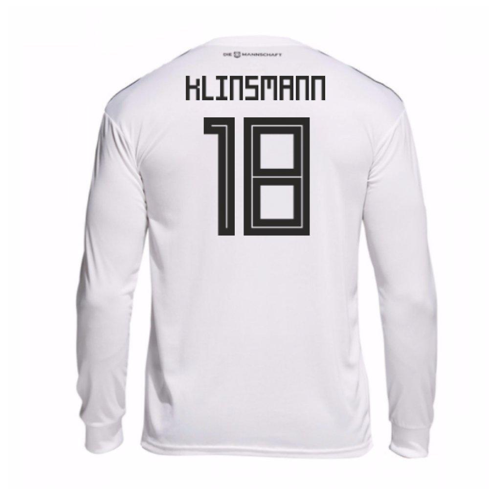 2018-19 Germany Home Long Sleeve Football Soccer T-Shirt Trikot (Jurgen Klinsmann 18)