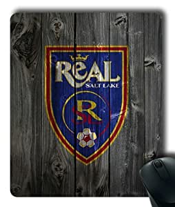 Salt Lake Real on Wood Background Rectangle Mouse Pad