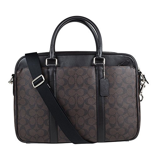 Price comparison product image Coach Mens Shoulder Inclined Shoulder Handbag F54803 (Dark brown MABR)