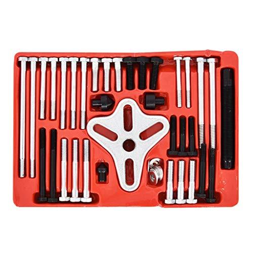 46Pc Harmonic Balancer Gear Puller,Steering Wheel Pulley Steel Yoke Washer Crank Puller,Flywheel Remover, Crankshaft Pulley Removal,Steering Wheel Pulling ()