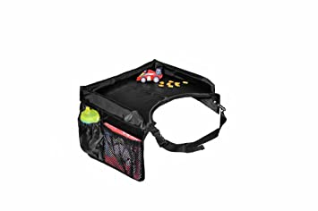 star kids snack play travel tray easy to clean nylon with mesh pockets