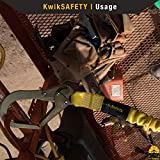 KwikSafety (Charlotte, NC) RATTLER 1 PACK (Internal Shock Absorber) Single Leg 6ft Safety Lanyard OSHA ANSI Fall Arrest Protection Equipment Snap Hooks Construction Arborist Roofing