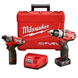 """Milwaukee 2594-22 M12 Fuel Combo 0.5"""" Drill Impact with 2 Bat"""
