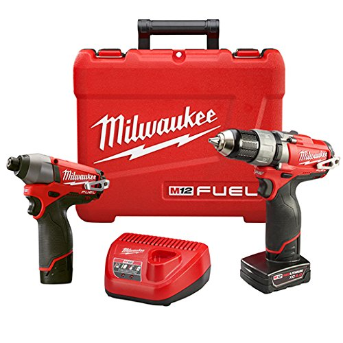 Milwaukee 2594-22 M12 Fuel Combo 1/2 Drill/Impact W/2 Bat by Milwaukee