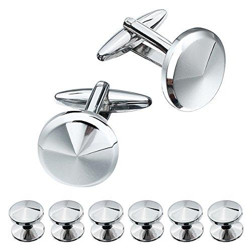 Silver Shirt Studs - 8