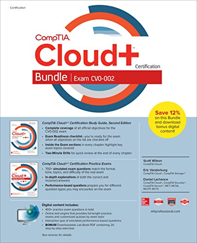 CompTIA Cloud+ Certification Bundle (Exam CV0-002) (Server Plus Certification)