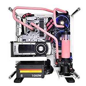 Thermaltake TtMod Sleeve Extension Power Supply Cable Kit ATX/EPS/8-pin PCI-E/6-pin PCI-E with Combs, Pink/Black AC-046…
