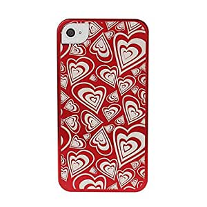 NEW Heart-shaped Transparent Plastic Case for iPhone 4/4S , Rose