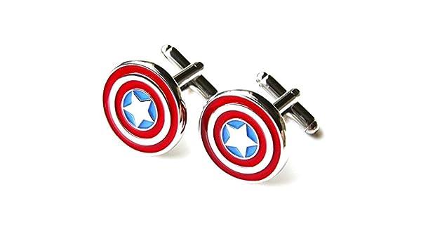 Captain America Stainless Steel Cuff Links Dress Shirt 1 Pair Cufflinks