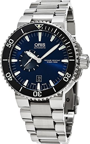 Oris Aquis Small Second Date Mens Watch 743-7673-4135MB