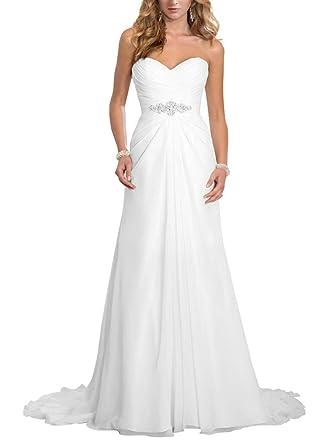 JAEDEN Brautkleid Lang Chiffon A Linie Hochzeitskleid Damen ...