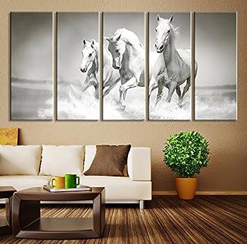 Extra Large Wall Art Horse   Oversize Art Wild Horses Canvas Print   Large  Art Wild