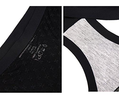 Yulee Braga Atractiva De Encaje Sin Costuras Para Mujer Paquete de 3 3 negro