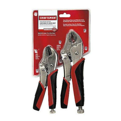 Craftsman 9-45712 Locking Plier Set, 2-Piece