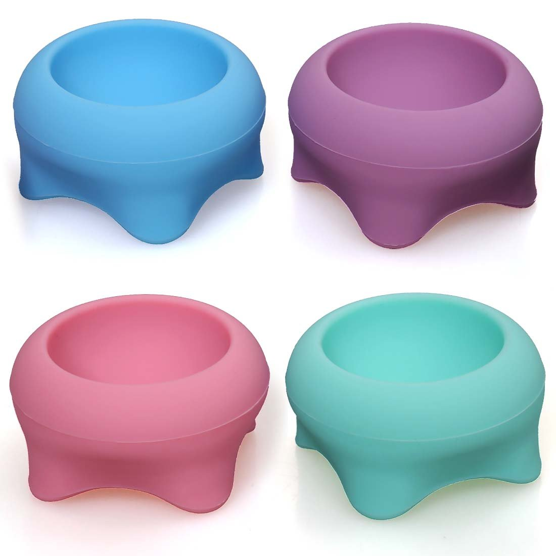 BMC 4pc Silicone Holders for Cosmetic Blender Makeup Sponges - CosmeCup