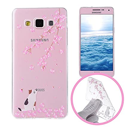 Silingsan Funda de Silicona para Samsung Galaxy A5 2015 SM-A500F Carcasa de Caucho Gel TPU Soft Slim Silicone Case Cover Funda Protectora Carcasa ...
