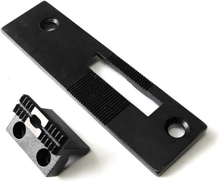 Placa de aguja + perro de alimentación 01-030A-5607+01-087A-5607 para máquina de coser Sunstar Km560-7