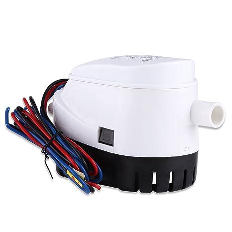 Yosoo 12V 750GPH Automática Sumergible Bomba de Agua de Sentina con Interruptor de Flotador para Barco