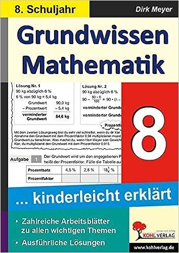 Grundwissen Mathematik 8. Schuljahr: 9783956868061: Amazon.com: Books