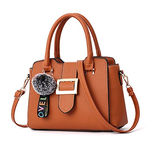 Brown Hombro GUANGMING77 Bolsa Congregación Un soft Invernales shoulder color Hombro Con caramel Crossbody Bolsa Bolsa Solo The qqPrXT