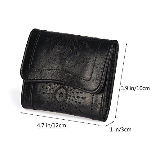 Hollow Vintage Leather Bag Shoulder PU Bag Ladie's Crossbody Forestfish black Bag 2 tCIwUqxI