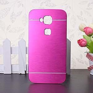 Huawei G8 caso, Wkae® Lujo cepillado del metal del acero Volver pl¨¢stico cubierta del estuche r¨ªgido para Huawei G8 by Diebell(Rose)