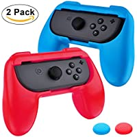 Joseche Nintendo Switch Joy-Con Grips,[Wear-Resistant] Joy-Con Handle for Nintendo Switch (2 Pack) (Blue+Red)