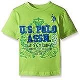 U.S. Polo Assn.. Boys' Crew Neck Iconic Graphic Logo T-Shirt,Summer Lime,18