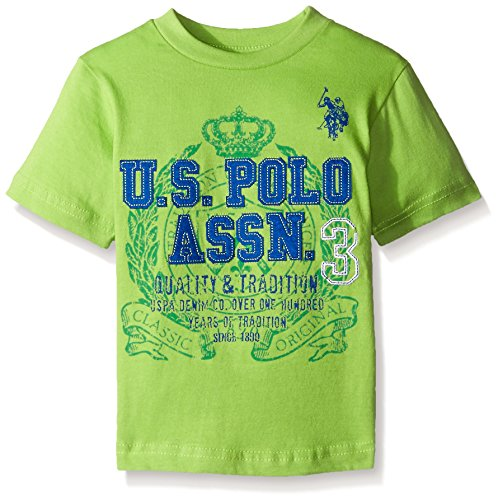 U.S. Polo Assn. Boys' Crew Neck Iconic Graphic Logo T-Shirt,Summer ()