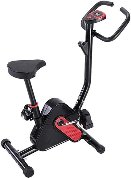 Bicicleta estática, ejercicio casero plegable Ciclismo Fitness Mini pedal Bicicleta estática Pantalla LCD Bicicleta de interior Bicicleta de piernas Stepper Entrenamiento cardiovascular,Negro: Amazon.es: Deportes y aire libre