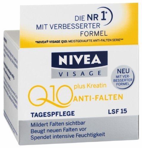 Genuine German Nivea Visage Q10 Plus Creatine Anti Wrinkle Day Cream 1.7oz. / 50ml Better & only in Germany available Formula - Made in Germany NOT Thailand