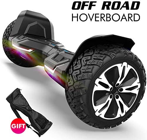 Gyroshoes Hoverboard – Warrior 8.5 inch Off Road All Terrain Hoverboard with Bluetooth Speaker and Led Lights,Self Balancing Hoverboards UL2272 Certified