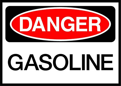 Gasoline Danger OSHA/ANSI Aluminum Metal Sign 24 in x 18 in Custom Warning & Saftey Sign Pre-drilled Holes for Easy mounting -