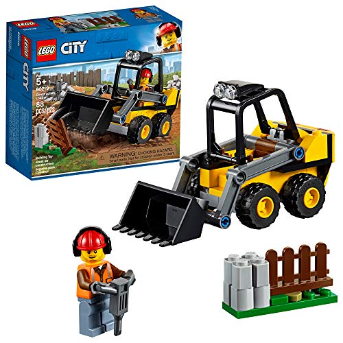 LEGO City Great Vehicles Construction Loader 60219 Building Kit , New 2019 (88 Piece) (Lego Bulldozer)