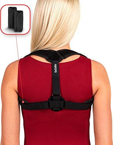 Back Posture Corrector for Women Men - Effective and Comfortable Posture Brace - Back Brace - Adjustable Upper Back Straightener - for Improving Posture by Selbite + eBook