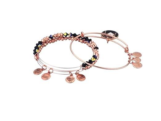 Alex And Ani Joy Set Of 3 Shiny Rose Gold Bangle Bracelets A17SETHOL05SR
