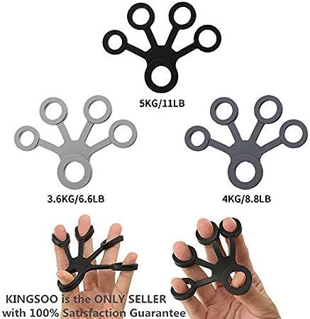 Hand Grip Fortalecedor dedo diseño fuerza entrenador de antebrazo ejercicio/guitarra dedo strengtheners/escalada en roca grips-6 Set