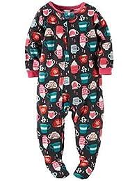 Big-girls' 1 Pc Fleece Footed Blanket Sleeper Pajamas (4,...