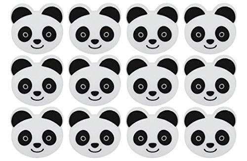 Set of 12 Novelty Animal Face Bag Clips - Panda
